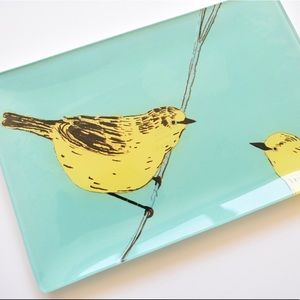 West Elm glass dish